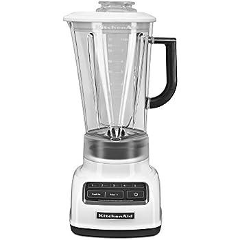 KitchenAid KSB1575WH 5-Speed Diamond Blender with 60-Ounce BPA-Free Pitcher - White
