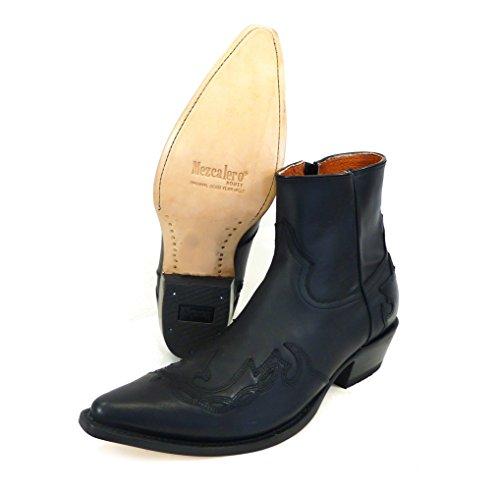 Vestlige Slid Butik Herre Vestlige Dyb, Diy Krudt - Cowboystøvler Eller Cowboystøvler Og Biker Støvler Vestlige Støvler Til Mænd Sort