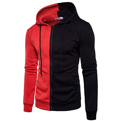 Rambling Hoodies for Men, Men's Long Sleeve Autumn Splicing Leisure Jacket Collar Men Casual Coat -