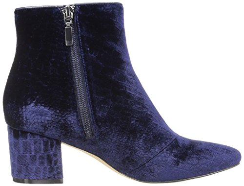 The Fix Women's Daniella Block-Heel Ankle Bootie Midnight Navy Croc Velvet new arrival sale online cheap low shipping F079k6nuY