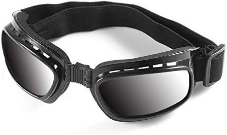 NSH Faltbare Vintage Motorradbrille Winddichte staubdichte Skibrille Offroad Racing Brillenbrille Verstellbares Gummiband