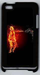 iPod 4 Cases & Covers - Flame In The Woman Custom PC Soft Case Cover Protector for iPod 4 - Black