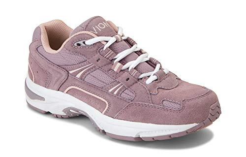 Vionic Women's Walker Classic Walking Shoes with Concealed Orthotic Arch Support 6.5 M US Mauve Suede