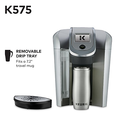 Keurig K575 Single Serve Programmable K-Cup Coffee Maker with 12 oz Brew Size and Hot Water on Demand, Platinum by Keurig (Image #2)