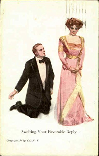 Awaiting Your Favorable Reply Romance & Love Original Vintage (Love Reply Cards)
