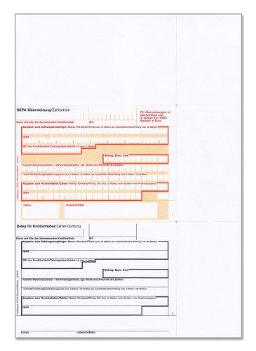 bits&paper BP0257 SEPA-Überweisung Vordruck, A4, 250 Blatt, bankneutral, mikroperforiert
