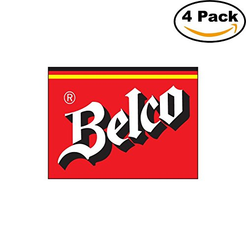 belco-2-beer-logo-alcohol-4-vinyl-stickers-decal-bumper-window-bar-wall-4x4