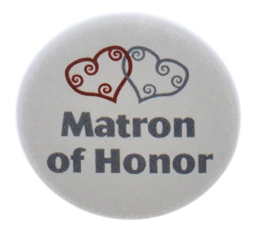 Matron of Honor Silver Heart 1.25