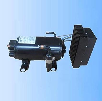 Brushless GOWE dc24v eléctrico aire acondicionado compresor para camión tren trail air condintioner de equipaje de