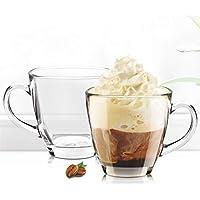 PrimeWorld Evergreen Glass Tea Mug Coffee Mug Set of 6 pcs 180 ml -8 cm X 7.5 cm