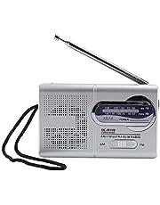 AM FM Compacte transistorradiospeler, multifunctionele Mini Pocket AM/FM BC-R119 Radio Luidspreker Ontvanger Telescopische antenne Mini Pocket Radio voor wandelen, joggen en kamperen