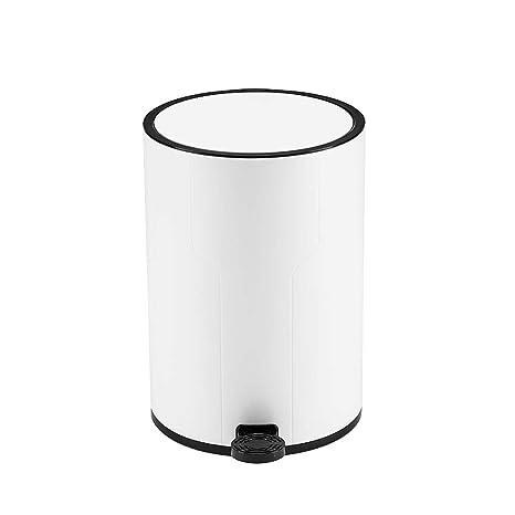 ZJXAXSF Bathroom Trash can Kitchen Trash can Bedroom Trash can White  Plastic Small Trash can