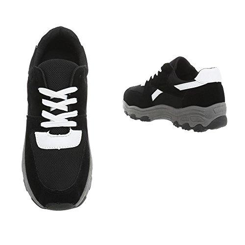 Damen Schuhe Freizeitschuhe Sneakers Schwarz