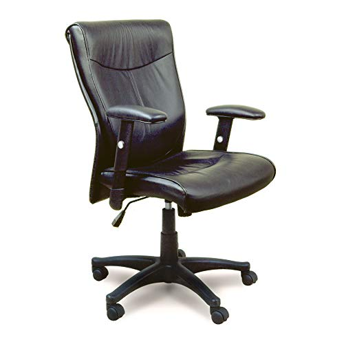 Wood Mayline Mercado - Mayline 2528MAY Mercado Conference Chair with T-Pad Arms, Black Leather