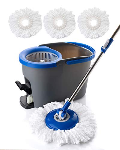 Simpli-Magic 79154 Spin Cleaning System with 3 Microfiber Mop Head Refills Included, Industrial by Simpli-Magic (Image #4)