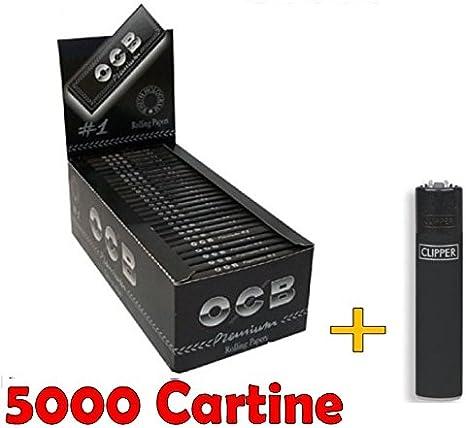 OCB Premium noir courtes 10 carnets de 100 feuilles rouler 1 briquet offert