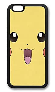 Apple Iphone 6 Case,WENJORS Adorable Pikachu Minimal Pokemon Poster Soft Case Protective Shell Cell Phone Cover For Apple Iphone 6 (4.7 Inch) - TPU Black
