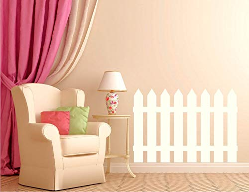 CELYCASY Nursery Wall Decal - Picket Fence Decal - Children's Room Decor - Nursery Decal - Kid's Room Decor - Kid's Decal