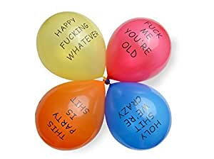 Dear Deer--Abusive Balloons for Birthday Party, Red Yellow Orange Blue,20 Ct