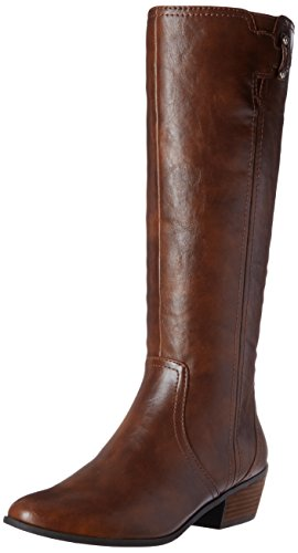 Dr. Scholl's Shoes Women's Brilliance Riding Boot, Whiskey, 8.5 M US