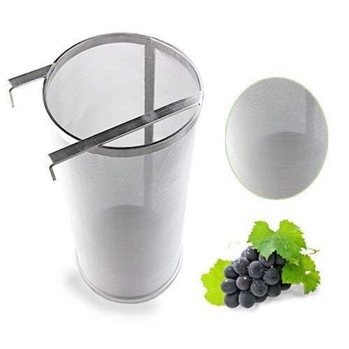 Signstek vino in acciaio INOX filtro con doppia impugnatura per casa birra Brewing 300/micron Filter basket