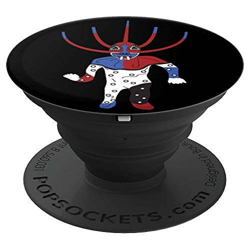 Vejigante Puerto Rico Puerto Rican Mask Man Black Background - PopSockets Grip and Stand for Phones and Tablets
