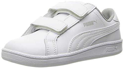 PUMA Smash Fun L V Kids Sneaker (Toddler/Little Kid/Big Kid), White/White, 10 M US Toddler