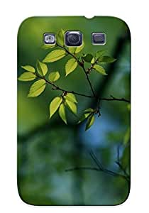 For Galaxy S3 Premium Tpu Case Cover Green Leaves On The Tree Protective Case