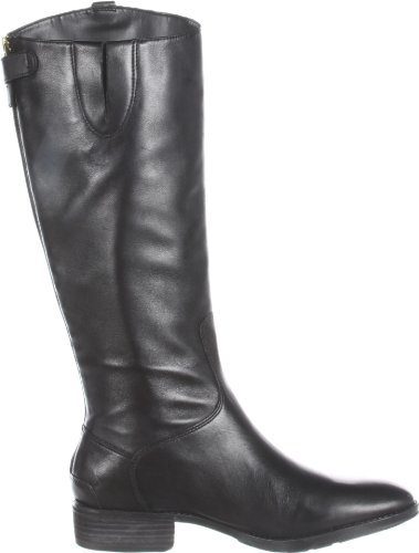 Sam Edelman Women's Penny Riding Boot, Black Leather, 4 M US