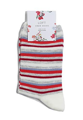 - Ann Taylor LOFT Women's Patterned Trouser Socks (Multi/Cream Striped)