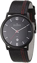Skagen Men's 681XLBLBR Steel Black Dial and Strap Watch