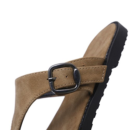 Slippers flip Flops Shales Woman Sandals Flat Womens shoes Sandals Brown Size 35 New 41 Casual Loft Big Comfortable Flat Slides SxqOO0