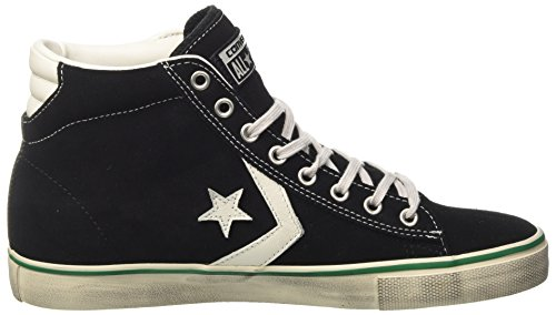Converse 158935c, Sneaker a Collo Alto Uomo Nero (Black/S.white/A.green)