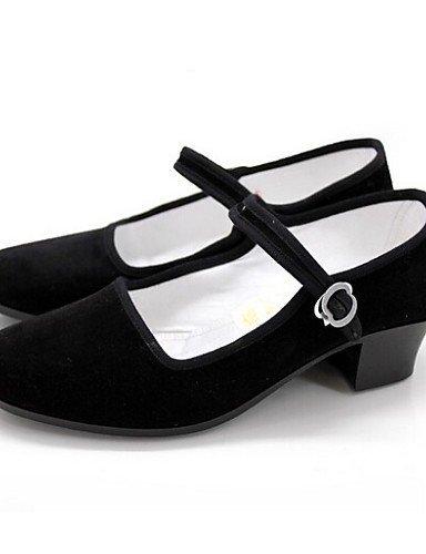 Gros Noir Suédé danse Moderne Chaussures ShangYi Non personnalisable Black de talon Yx61wA6