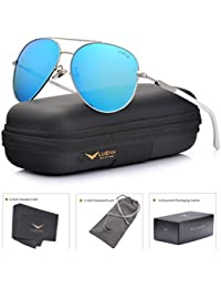 Aviator Sunglasses Womens Polarized Mirror with Case - UV 400 Protection 60MM
