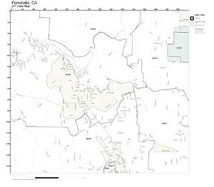 Zip Code Wall Map Of Forestville Ca Zip Code Map Laminated