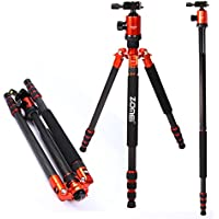Zomei Z888C Ball Head Compact and Carbon Fiber Tripod for Camera - Orange