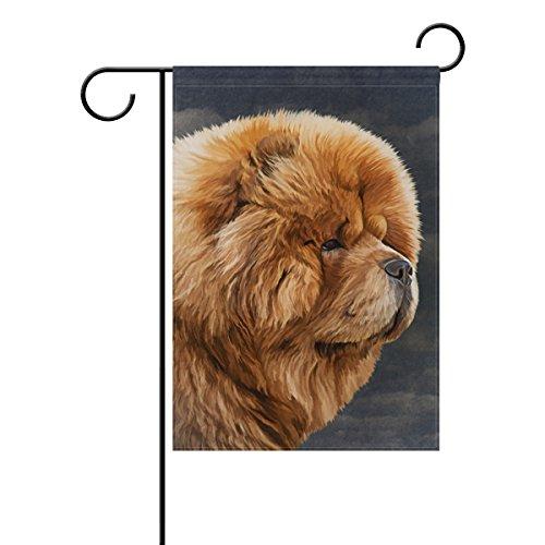Chow Garden Flag (My Daily Chow Dog Vintage Decorative Double Sided Garden Flag 12 x 18 inch)