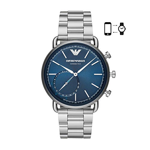 Analog Hybrid (Emporio Armani Men's ART3028 Hybrid Smartwatch Analog Display Analog Quartz Silver Watch)