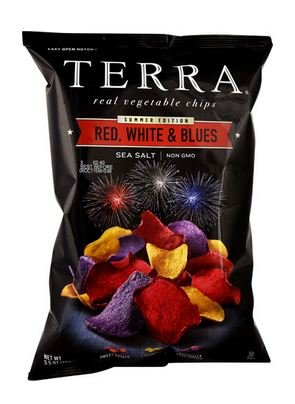 Amazoncom Terra Red White Blues Real Vegetable Chips Sea Salt