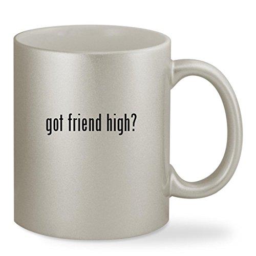 got friend high? - 11oz Silver Sturdy Ceramic Coffee Cup Mug