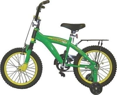 "New John Deere 35016 Green Heavy Duty 16"" Training / Bike Bicycle New 9821984"