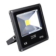 LE 20W Super Bright Outdoor LED Flood Lights, 200W Halogen Bulb Equivalent, Warm White, Security Lights, Floodlight