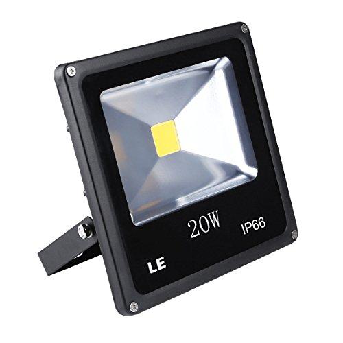 LE 20W Super Bright Outdoor LED Flood Lights, 200W Halogen Bulb Equivalent, Waterproof, 1500lm, Daylight White, 6000K, Security Lights, Floodlight