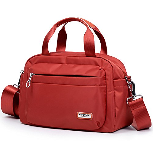 Nylon Handbag Waterproof 280019 Red Fouvor Bag Crossbody Satchel EwPzZW4qf