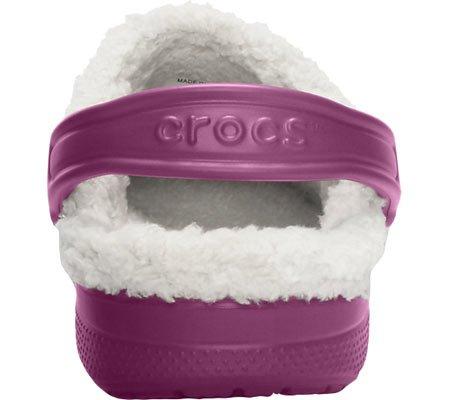 Crocs Feat pelusa - Zuecos forrados unisex - Cálido y zuecos Para Plum/Oatmeal