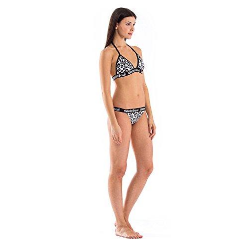 GlideSoul Signature Collection Multi Strap Parte de Abajo de Bikini, Mujer leopardo