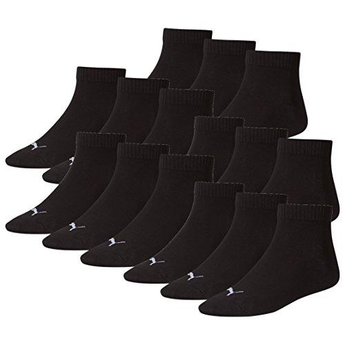 Pair Mens Puma Sneaker amp; 15 Quarter Unisex Ladies Negro Socks Pw7UH57qx