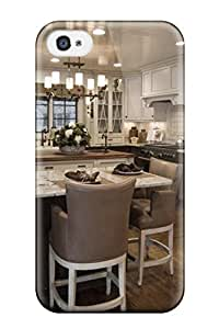 (aYSHkhV3251hghTl)durable Protection Case Cover For Iphone 4/4s(kitchen With White Amp Taupe Cabinets)