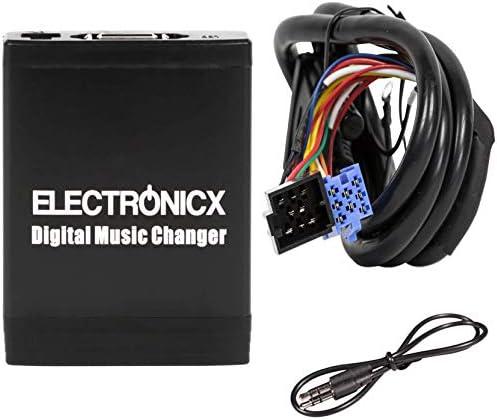 Electronicx Elec-M06-VW8D Adaptador de Musica Digital para Coche USB SD AUX Cambiador de CD para VW Seat Skoda Ford 8Pin
